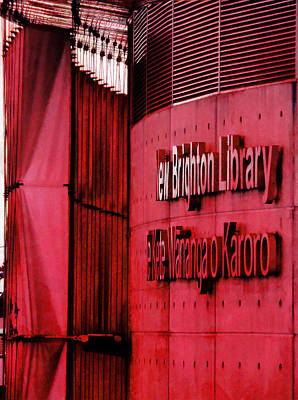 Library Digital Art - New Brighton Library In Christchurch by Steve Taylor