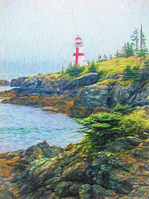Photograph - New Brunswick Light by Lewis Mann