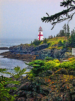 Photograph - New Brunswick Lighthouse by Lewis Mann