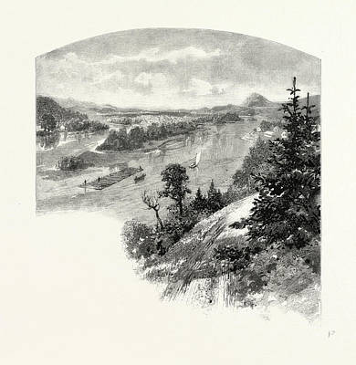 New Brunswick, Restigouche River, From Prospect Hill Print by Canadian School