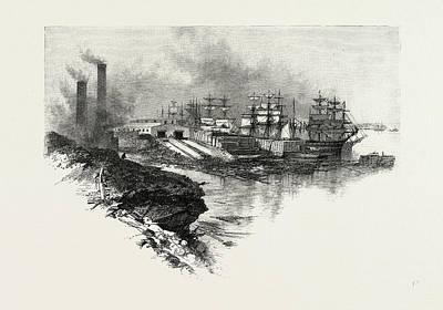 New Brunswick, River Front, Chatham, Canada Art Print