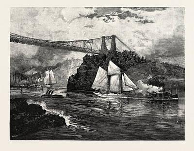 New Brunswick, Suspension Bridge Art Print