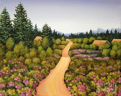 Painting - New Brunswick Wild Roses by Inese Poga