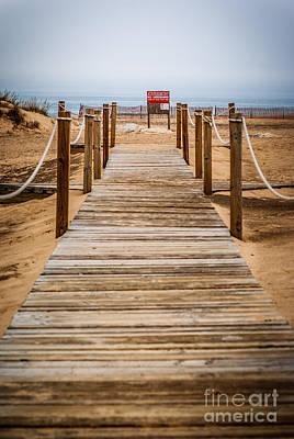 Wood Buffalo Photograph - New Buffalo Boardwalk Beach Entrance by Paul Velgos
