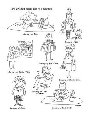 New Cabinet Posts For The Nineties Secretary Art Print
