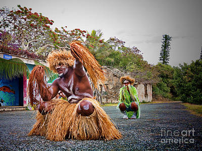 Photograph - New Caledonia Tribal Natives  by David Smith