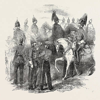 New Cavalry Corps The Mounted Staff 1854 Art Print by English School