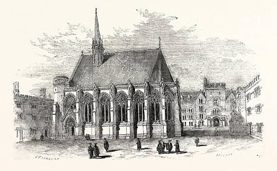 New Chapel, Exeter College, Oxford, Oxford University, Uk Art Print by English School