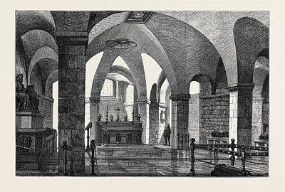 New Chapel For Early Morning Service In The Crypt Of St Art Print