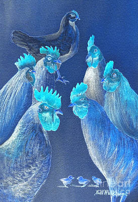 Digital Art - New Chick On The Block In Blue by Bill Holkham