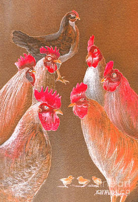 Painting - New Chick On The Block-reds by Bill Holkham