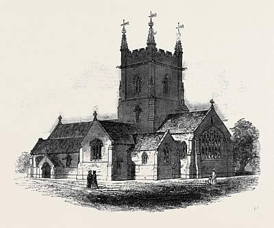 Kingston On Drawing - New Church At Surbiton by English School