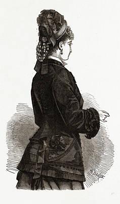 New Confection, 19th Century Fashion, Dress Art Print
