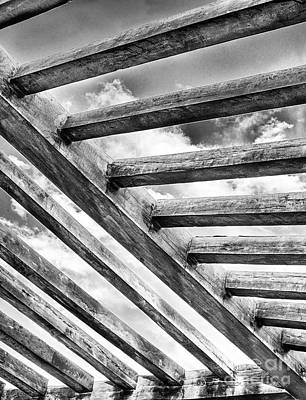 Photograph - Sky Over Pergola by Jim Rossol