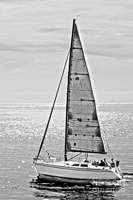 New Dawn - Sailing Into Calm Waters Art Print by Artist and Photographer Laura Wrede