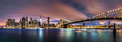 Skylines Royalty-Free and Rights-Managed Images - New Dawn over New York by Mihai Andritoiu