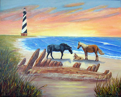 Art Print featuring the painting New Day - Hatteras by Fran Brooks