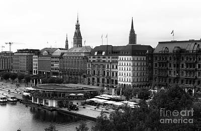 Photograph - New Day In Hamburg Mono by John Rizzuto