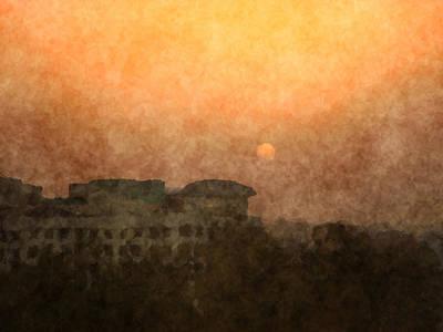 New Delhi Sunset Art Print
