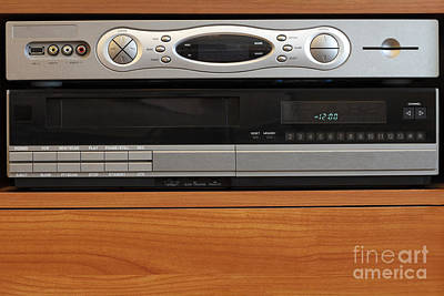 Rewind Photograph - New Dvr With Old Vcr by Lee Serenethos