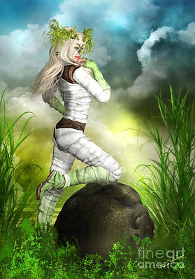 Woman Mixed Media - New Earth 3014 by Alicia Hollinger