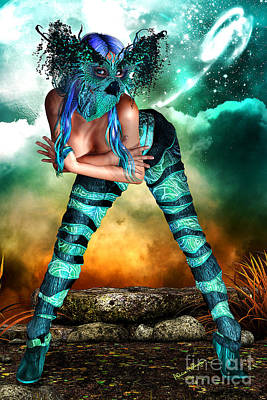 Science Fiction Mixed Media - New Earth 3015 by Alicia Hollinger