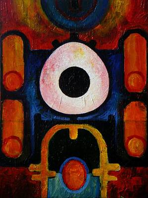 Save The Earth Painting - New Earth Incubation Six by Harold Bascom