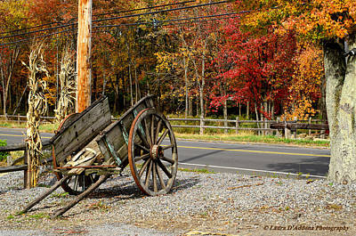 Photograph - New England Apple Cart by Laura DAddona