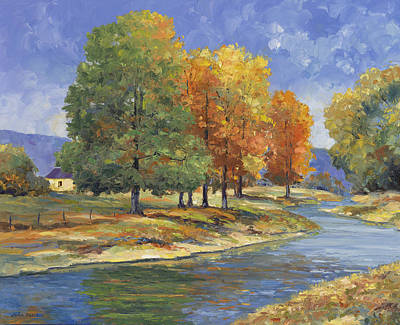 New England Autumn Print by John Zaccheo