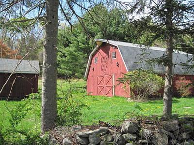 New England Barn Art Print by Marjorie Tietjen