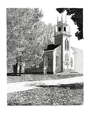New England Church Art Print