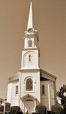 Digital Art - New England Church Steeple by Kirt Tisdale