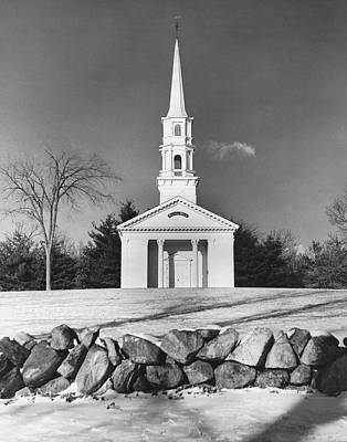Sudbury Photograph - New England Church by Underwood Archives