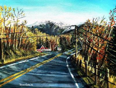 Art Print featuring the painting New England Drive by Shana Rowe Jackson