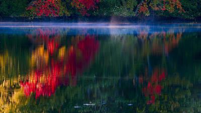 New England Fall Abstract Art Print by Dapixara photos
