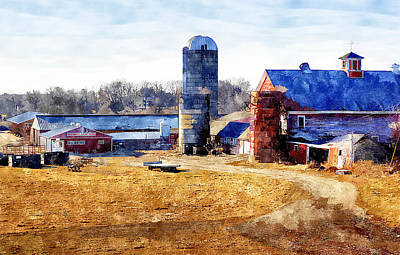 New England Dairy Farms Painting - New England Farm 2 by Rick Mosher