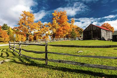 New England Farm With Autumn Sugar Art Print