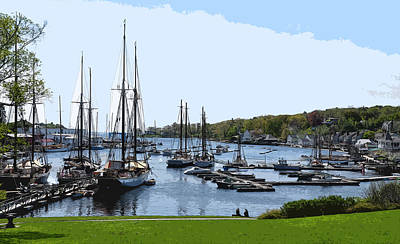 Digital Art - New England Harbor by Kirt Tisdale