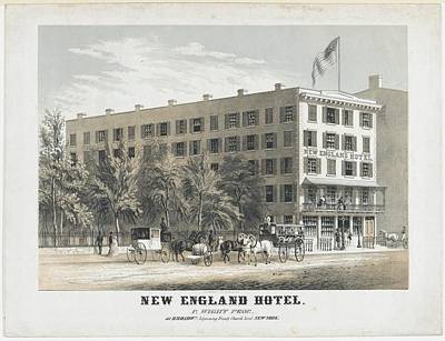 New England Hotel, Broadway, Adjoining Art Print