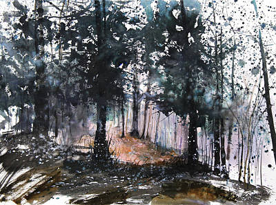 Wet On Wet Painting - New England Landscape No.214 by Sumiyo Toribe