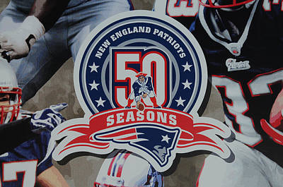 Photograph - New England Patriots 50 Seasons by Mike Martin