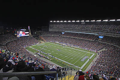 Gillette Stadium Photograph - New England Patriots And Tom Brady by Juergen Roth