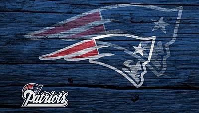 New England Patriots Barn Door Art Print by Dan Sproul