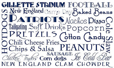 Digital Art - New England Patriots Game Day Food 1 by Andee Design