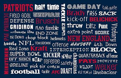 Subway Art Digital Art - New England Patriots by Jaime Friedman