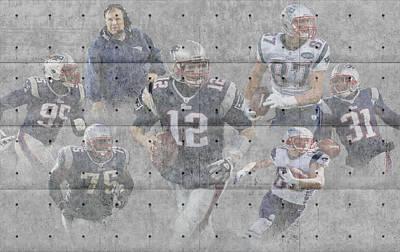 New England Patriots Team Art Print by Joe Hamilton