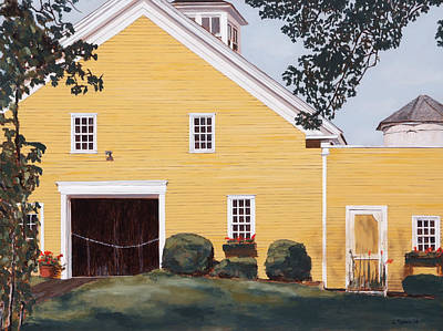 Maine Barns Painting - New England Roots by Craig Morris