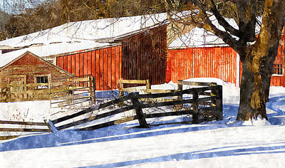 Painting - New England Snow by Rick Mosher