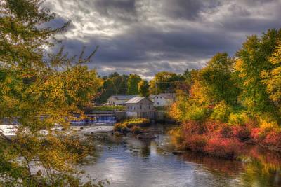 New England Town In Autumn Art Print