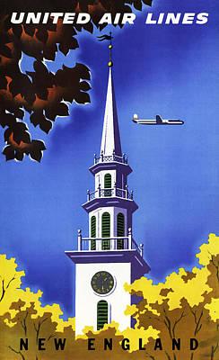 New England United Air Lines Art Print